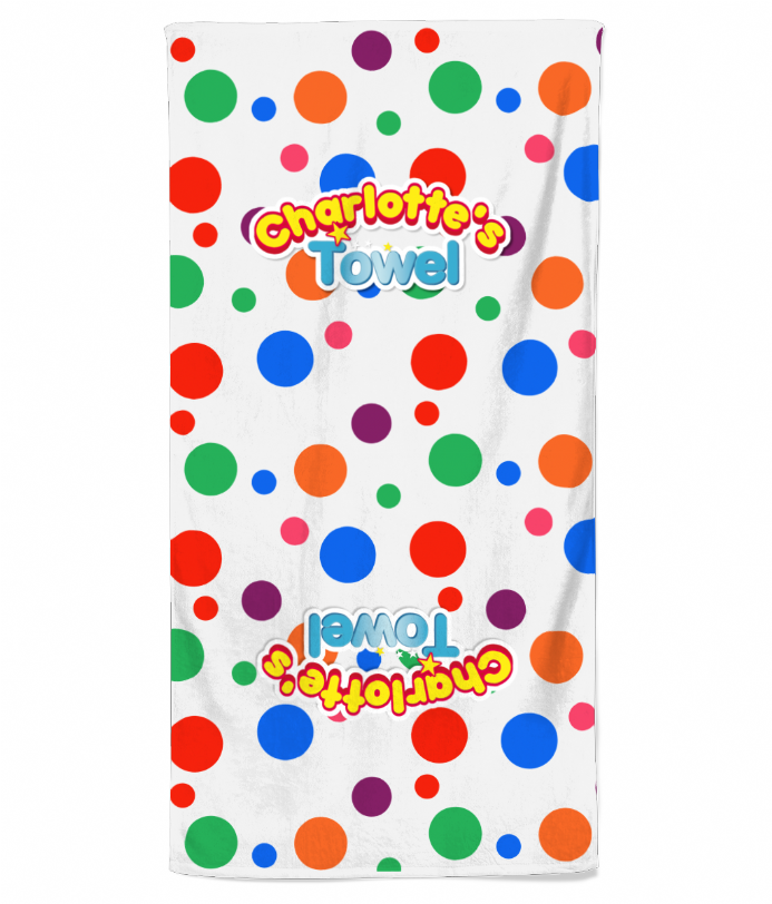 Personalised Mr Tumble Style Spotty Beach Towel
